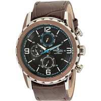 Bermuda Gents Multi Function Watch with Genuine Leather Strap 439307