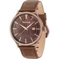 Timberland Gents Edgemont Antique Brass Tone Case Watch with Genuine Leather Strap 439940