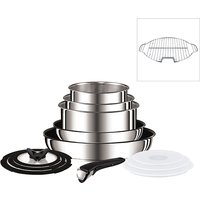 Tefal Ingenio 13 Piece Stainless Steel Pan Set with Grill Insert 440767