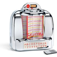 Steepletone Diner BT, Compact Wall Box Jukebox With Bluetooth, FM Radio, USB SD And AUX In Playback 442045