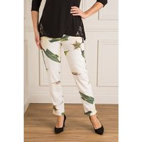 Just Be You Print Crepe Trousers 443148