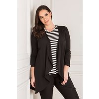 Nicole Super Soft Stripe Short Sleeve Top and Soft Jacket 443353