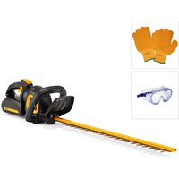 McCulloch 40V Hedge Trimmer With Gloves and Goggles 443424