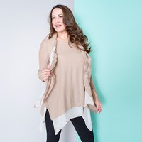 Malissa J Layered Crinkle Tunic and Scarf