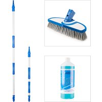 Vario Wash Soft Bristle Brush with Telescopic Handles and Outdoor Cleaner Concentrate