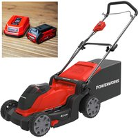 Powerworks 40V Cordless Lawnmower 41cm with 1 x 2Ah Battery and Charger