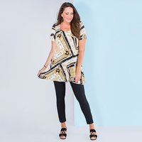 Nouvelle Short Sleeve Chain Print Swing Tunic