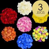 3 Jugs of Mixed Rose Petals