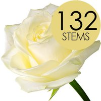 132 Wholesale White Roses