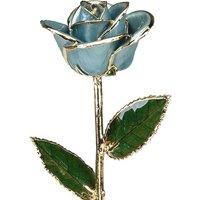A Light Blue 12Inch Gold Trimmed Rose