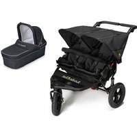 Out n About Nipper Double 360 V4 Pram System-Raven Black (1 Carrycot)