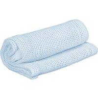 Kiddies Kingdom Deluxe Pram Cellular Blanket-Blue