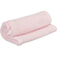 Kiddies Kingdom Deluxe Pram Cellular Blanket-pink