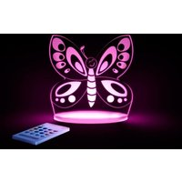 Aloka Multi Coloured Childrens Night Light-Butterfly