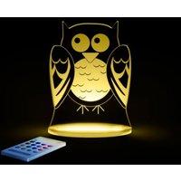 Aloka Multi Coloured Childrens Night Light-Owl