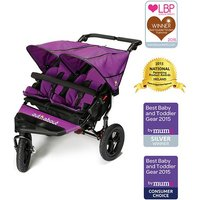 Out n About Nipper Double 360 V4 Stroller-Purple Punch - Shopping Gifts