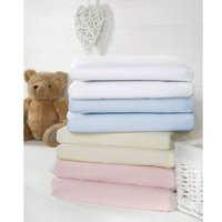 Bizzi Growin 2 Pack Cot Bed Fitted Sheets-Cream