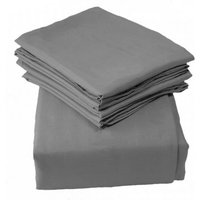 Kiddies Kingdom Deluxe 2 Pack Moses Basket Fitted Sheets-Grey