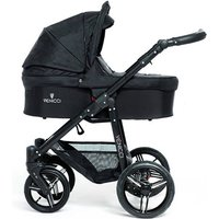 Venicci Soft Black Chassis 2in1 Pushchair-Black (New 2017)