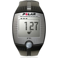 polar ft1 black heart rate monitor and training watch computer