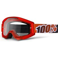 100 Percent Strata Clear Goggles Fire Red