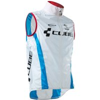 Cube Teamline Wind Vest Pure White/Blue/Red
