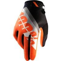 100 Percent Ridefit Gloves Slant Orange