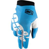 100 Percent iTrack Gloves Cyan