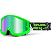 100 Percent Strata Mirrored Goggles Crafty Lime