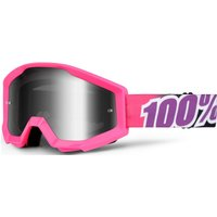 100 Percent Strata Mirrored Goggles Bubblegum