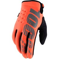 100 Percent Brisker Gloves Orange