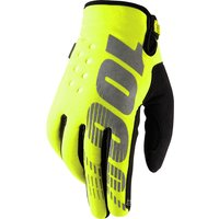 100 Percent Brisker Gloves Yellow