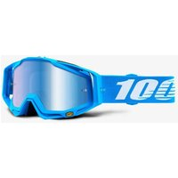 100 Percent Racecraft MX Mono Goggles Mirrored Lens Blue
