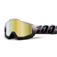 100 Percent Accuri Mirrored Lens Goggles Invaders/Gold