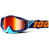 100 Percent Racecraft Calculus Navy Goggles Red Lens