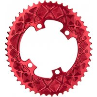 Absolute Black Oval 110 BCD Road Chainring Red