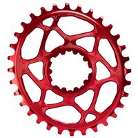Absolute Black Sram GXP Direct Mount Oval Chainring Red