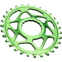 Absolute Black RaceFace Cinch Oval Chainring Green
