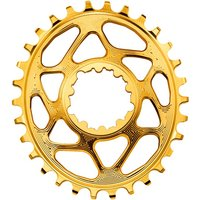 Absolute Black Sram GXP Direct Mount Oval Chainring Gold