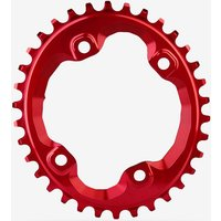 Absolute Black XT M8000/MT700 Spider Mount Oval Chainring Red
