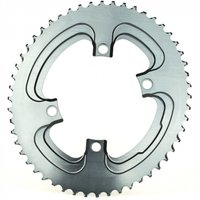 Absolute Black Oval Winter 110 BCD Chainring Silver