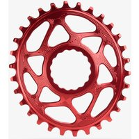 Absolute Black RaceFace Cinch Direct Mount Oval Chainring Red
