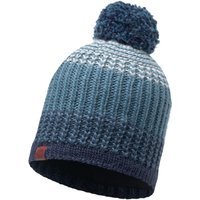 Buff Knitted Fleece Bobble Hat Borae Mazarine Blue