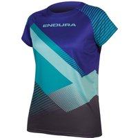 Endura Singletrack Print II SS Womens Jersey Cobalt Blue