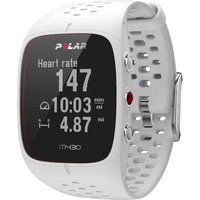 polar m430 running watch white
