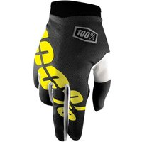 100 Percent iTrack Gloves Black/Yellow