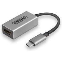 Eminent AB7870 USB Type-C HDMI Aluminium, Zwart kabeladapter-verloopstukje