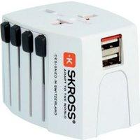 Skross 1302940 Reisstekker MUV USB