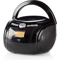 Boombox | 9 W | Bluetooth® | CD-speler-FM-Radio-USB-AUX | Zwart