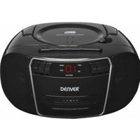 Denver TCP-40 FM CD-radio AUX, CD, Cassette Zwart